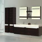 Banyo kahverengi mobilyalar
