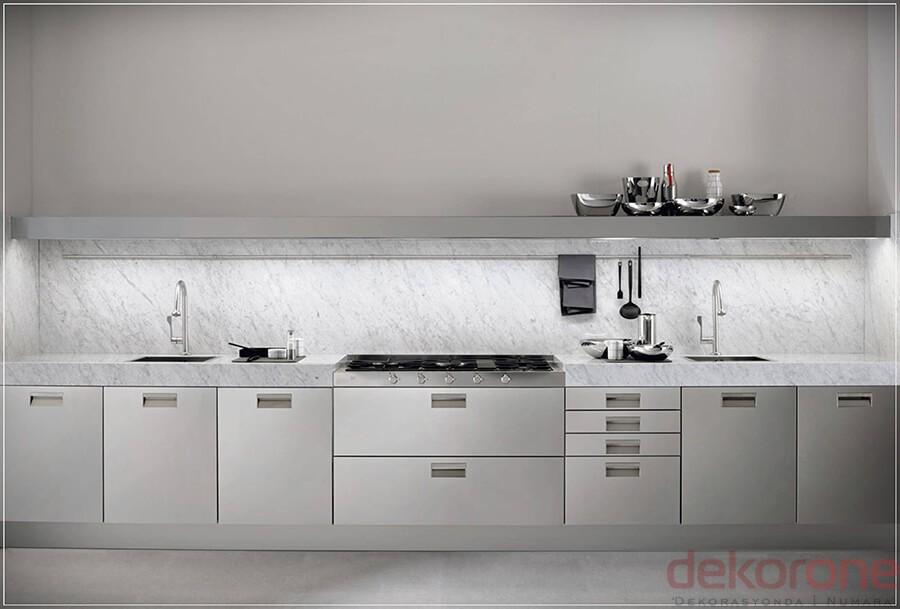 Paslanmaz Çelik Mutfak Modelleri 1
