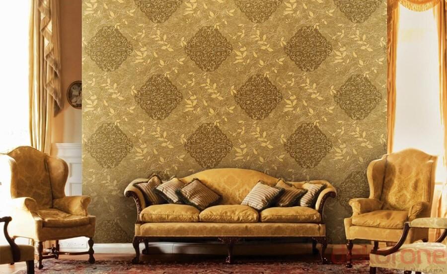 Sarı Çiçekli Duvar Kağıdı