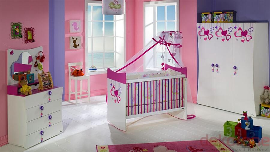 Bebek Odası Takımları Turuncu ve Mor