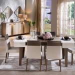 Bellona Yemek Odası Kahverengi ve Timsah Derisi