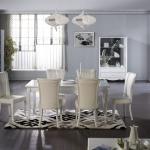 Bellona Yemek Odası Klasik Beyaz Renk