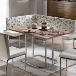 Beyaz Çiçekli Bellona Mutfak Köşe Takımı 2016