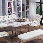 Beyaz Çiçekli Metal Bellona Mutfak Köşe Takımı 2016