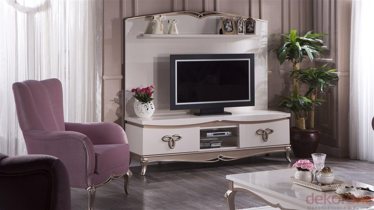 Beyaz 2 Bellona Televizyon Duvar Ünitesi 2016