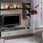 Beyaz Krem Bellona Televizyon Duvar Ünitesi 2016