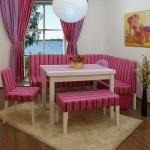 Kırmızı Pembe Bellona Mutfak Köşe Takımı 2016