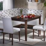 Kahverengi Beyaz Çiçekli Bellona Mutfak Köşe Takımı 2016
