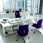 Ofis Dolap Modelleri Beyaz ve Mor