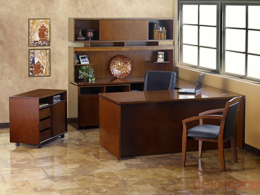 Ofis Dolap Modelleri Kahverengi