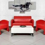 Ofis Koltuk Takımları Kırmızı Renk