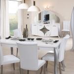 Yemek Masası Beyaz Dekorasyomn
