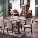Yemek Masası Kahverengi Tonları
