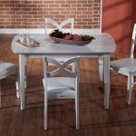 Beyaz Ahşap İstikbal Masa Sandalye Yemek Takımı 2016