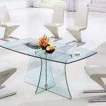 Beyaz Camlı Modern Bellona Mutfak Masa ve Sandalye Takımı