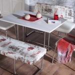 Beyaz Kırmızı İstikbal Masa Sandalye Yemek Takımı 2016