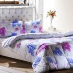Beyaz Mavi Pembe Çiçekli Bellona Uyku Seti 2016