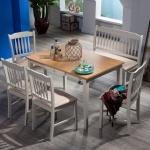 Kahverengi Ahşap İstikbal Masa Sandalye Yemek Takımı 2016