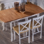 Kahverengi Beyaz Ahşap İstikbal Masa Sandalye Yemek Takımı 2016