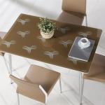 Kahverengi Modern Camlı Bellona Mutfak Masa ve Sandalye Takımı