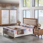 Koyu kahverengi Mobilya İstikbal Yatak Odası Takımı 2016