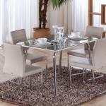 Krem Metal Ayaklı İstikbal Masa Sandalye Yemek Takımı 2016