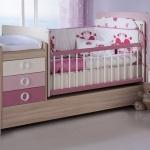 Pembe Mobilya Kız Çocuğu Bellona Bebek Odası Takımı