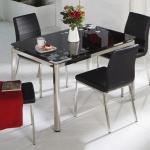 Siyah Camlı İstikbal Masa Sandalye Yemek Takımı 2016