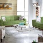 Yeşil Çiçekli İstikbal Kanepe Takımı Modelleri 2016