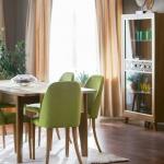 Yeşil Kahverengi Mobilya İstikbal Yemek Odası Takımı 2016
