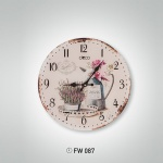 Çiçekli İstikbal Dekoratif Saat Modeli