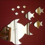 Balıklı Dekoratif Ayna Modeli