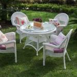 Beyaz İstikbal Bahçe Masa ve Sandalye Takımı 2016