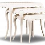 Beyaz Zigon Sehpa Modeli