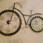 Bisiklet Modelli Dekoratif Duvar Saat Modeli