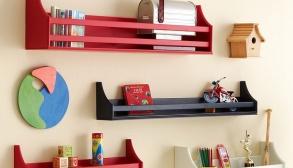 Kırmızı Siyah Dekoratif Raf Modeli