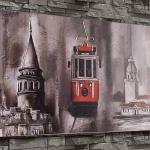 Kız kulesi ve Tren Motifli İstikbal Dekorasyon Tablo Modeli