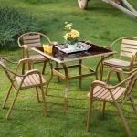Kahvarengi İstikbal Bahçe Masa ve Sandalye Takımı 2016