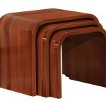 Kahverengi Ahşap Zigon Sehpa Modeli