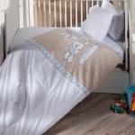 Kahverengi Beyaz İstikbal Bebek Uyku Seti Modeli 2016