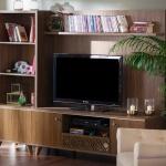 Kahverengi Mobilya İstikbal TV Ünitesi Modeleri 2016
