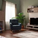 Kahverengi ve Krem İstikbal TV Ünitesi Modeleri 2016