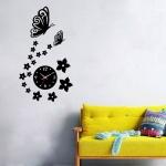 Kelebekli Dekoratif Duvar Saat Modeli 1