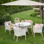 Krem Hasır İstikbal Bahçe Masa ve Sandalye Takımı 2016