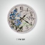 Mavi Çiçekli İstikbal Dekoratif Saat Modeli