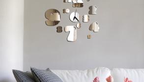 Saat Şeklinde Dekoratif Ayna Modeli