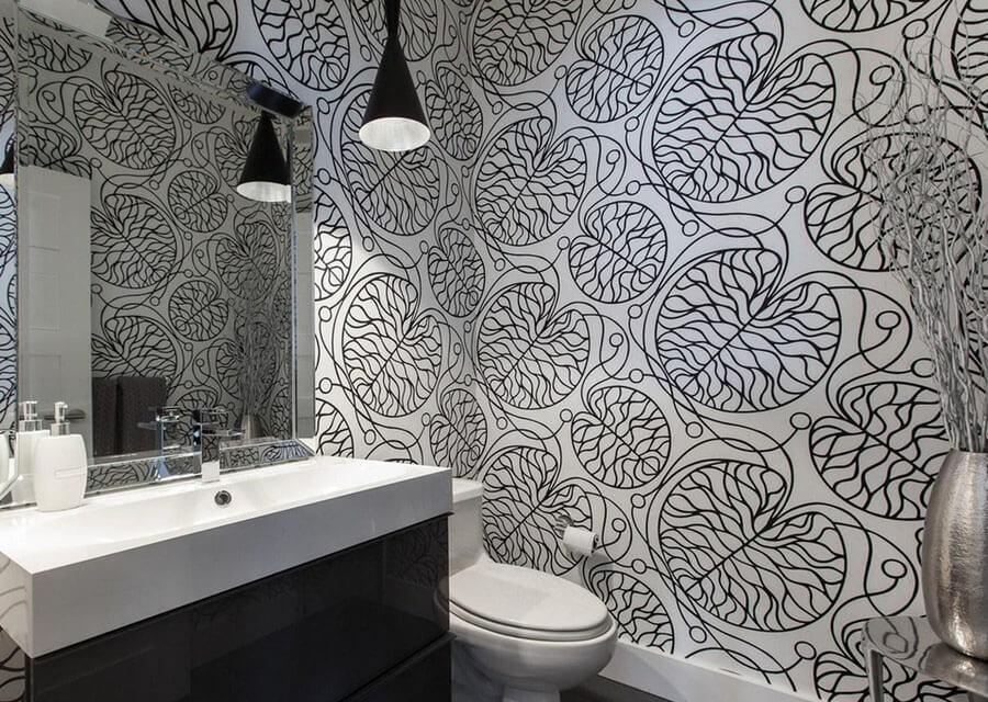 Banyo İçin Dekoratif Duvar Kağıdı