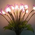 Işıklı dekoratif yapay çiçek modeli