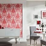 Kırmızı Çiçekli Dekoratif Duvar Kağıdı