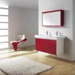 Kırmızı Beyaz dekoratif dolap modeli